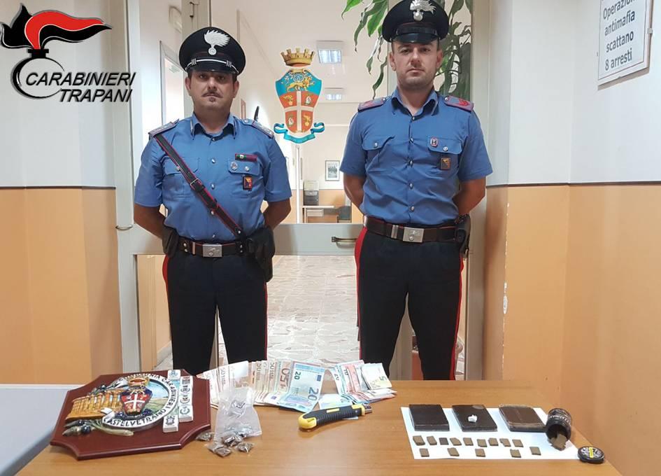 Castelvetrano: due arresti per possesso di stupefacenti