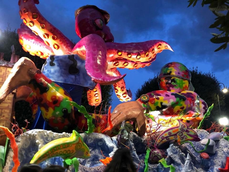 Carnevale Petrosino: vince il carro del Gruppo Musa
