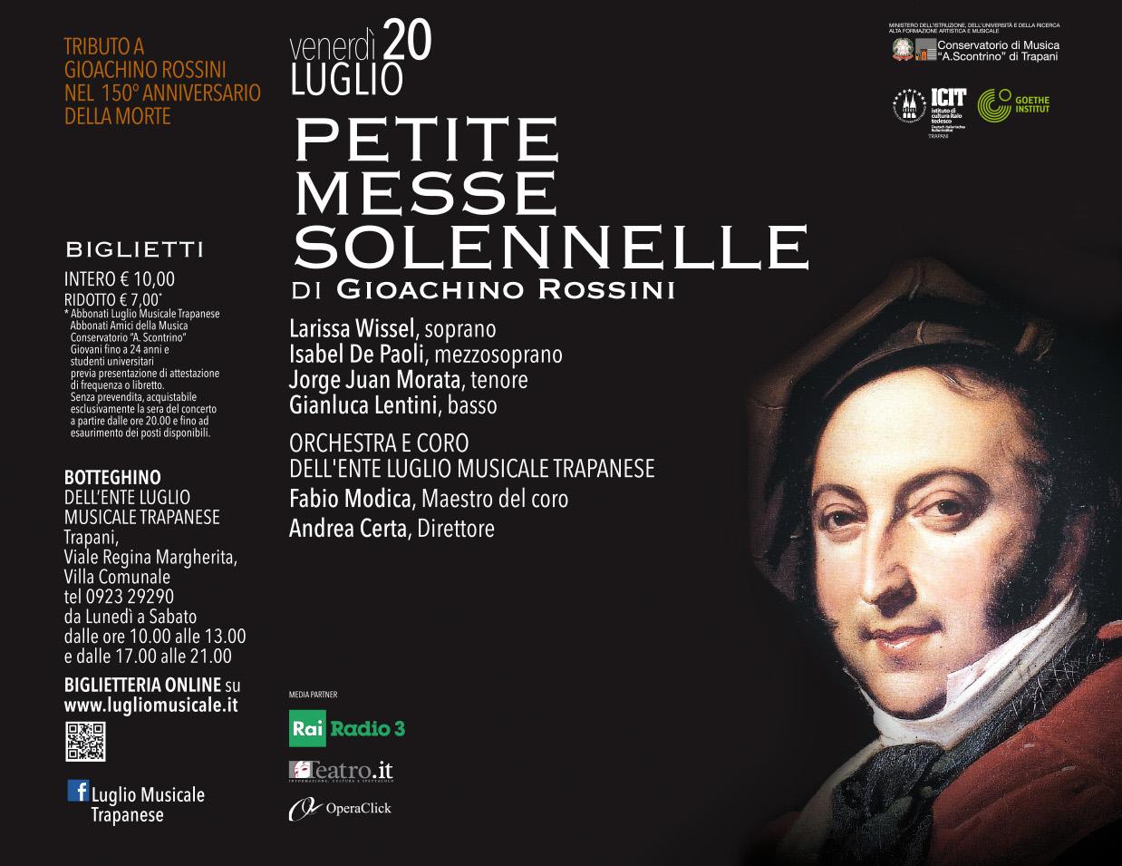 """Luglio Musicale: al Chiostro di San Domenico la """"Petite Messe Solennelle"""" di Rossini """