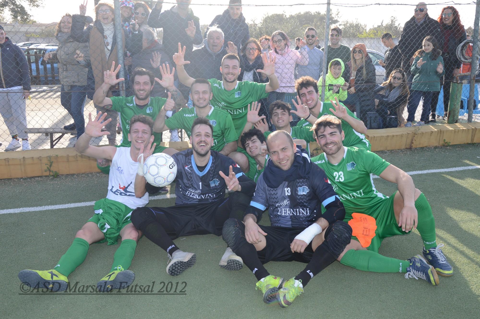 Calcio a 5: ottava vittoria consecutiva per il Marsala