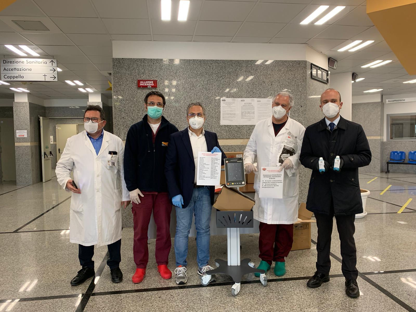 Ospedale Marsala: imprese ed imprenditori donano Totem Multiparametrico, visiere e gel disinfettante