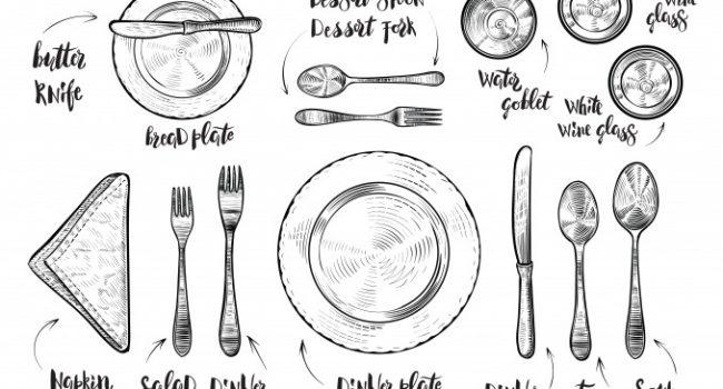 Bon ton a tavola: come sistemare alla perfezione le posate