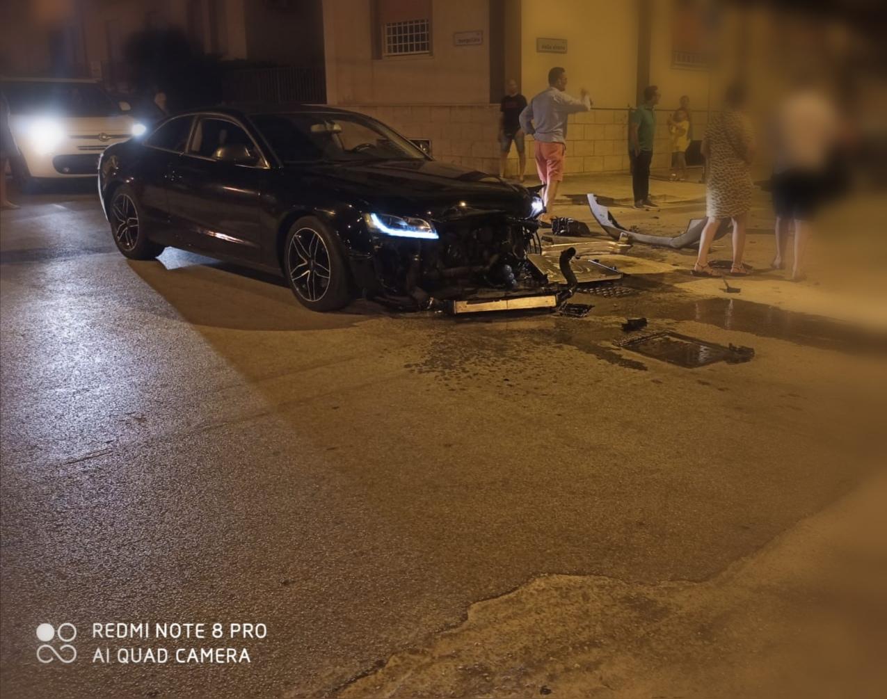 Marsala: un altro scontro tra auto questa volta in via delle Sirene