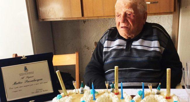 Addio a Matteo Passalacqua: il centenario ex dipendente comunale