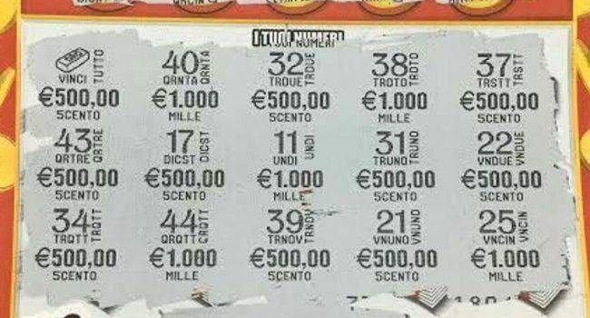 """Acquista un """"Gratta e vinci"""" da 5 euro e porta a casa 10mila euro"""