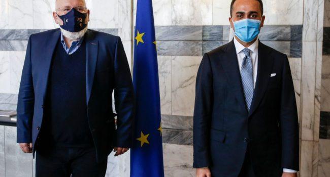 """Di Maio incontra Timmermans """"Pieno sostegno al Green Deal Ue"""""""